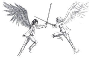 Angel_fight_by_Marrazan
