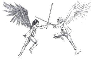 Angel_fight_by_Marrazan