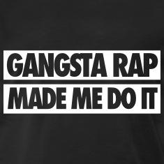 Gangsta rap made me do it (black  white) wall tapestry